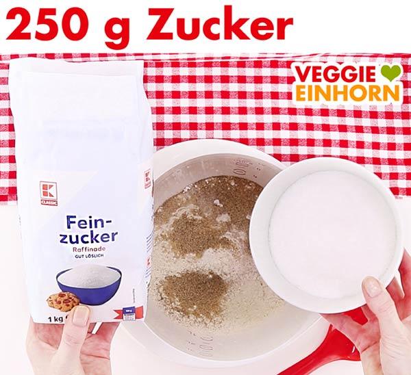 Zucker für veganen Stollen