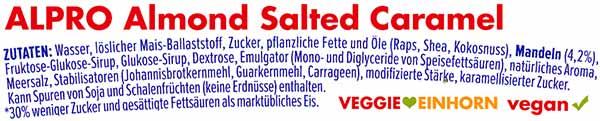 Zutaten Alpro Eis Mandel Karamell