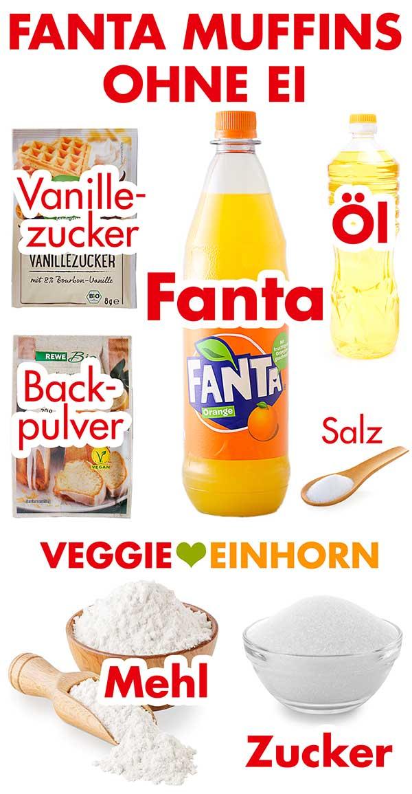 Zutaten für Fanta Muffins