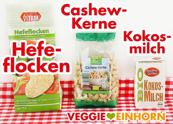 Hefeflocken, Cashewkerne, Kokosmilch