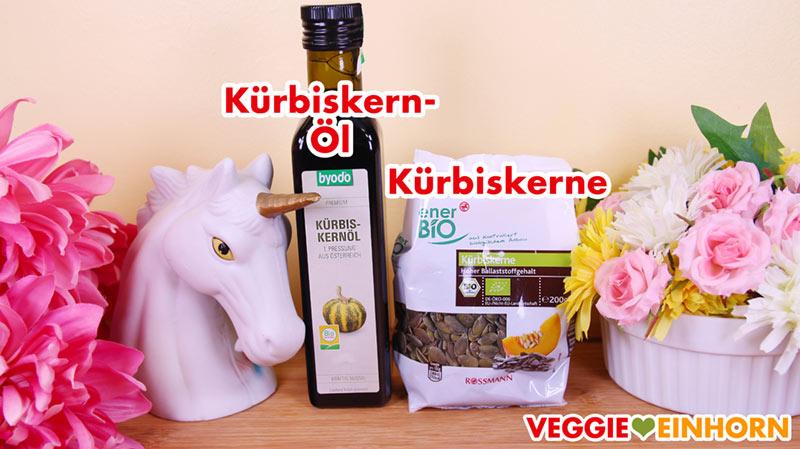 Kürbiskernöl und Kürbiskerne