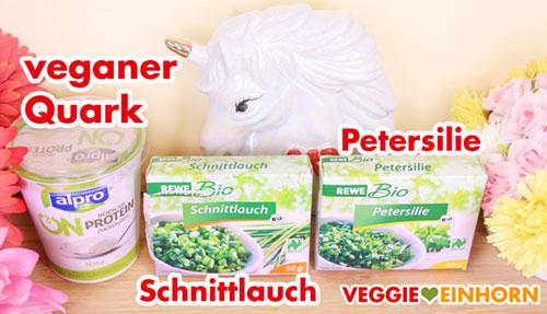 Veganer Quark, Schnittlauch, Petersilie