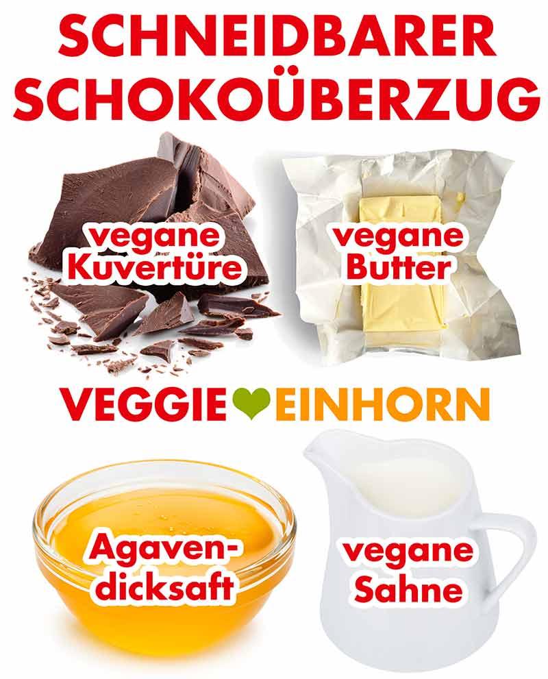 Zutaten für den Schokoladenüberzug
