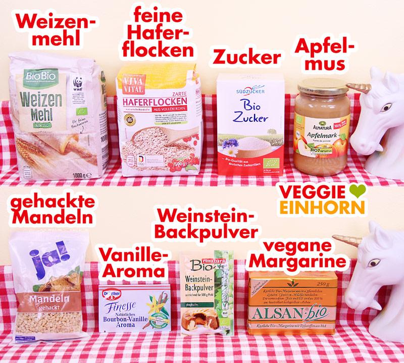 Produkte für die Kekse