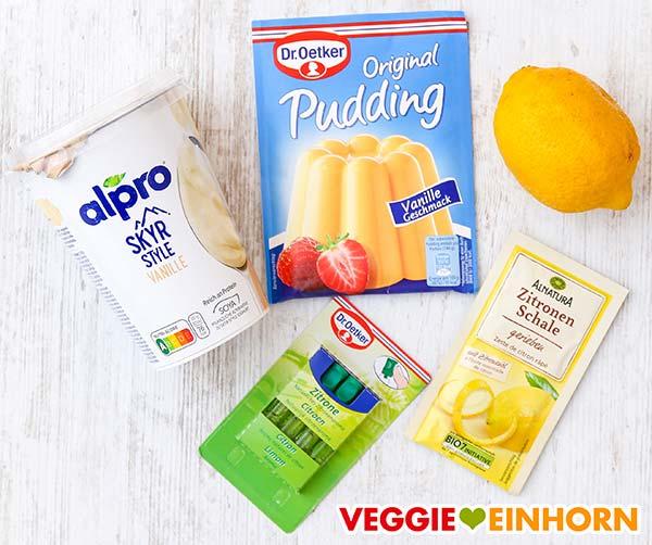 Alpro Skyr Style Vanille, Vanillepuddingpulver, Zitrone