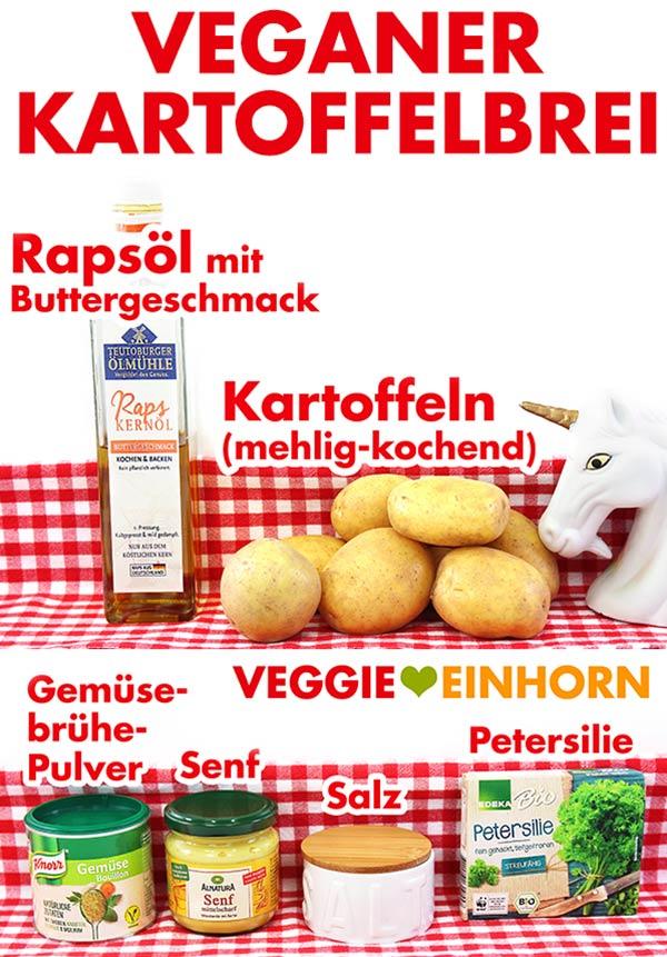 Zutaten für veganen Kartoffelbrei: Rapsöl mit Buttergeschmack