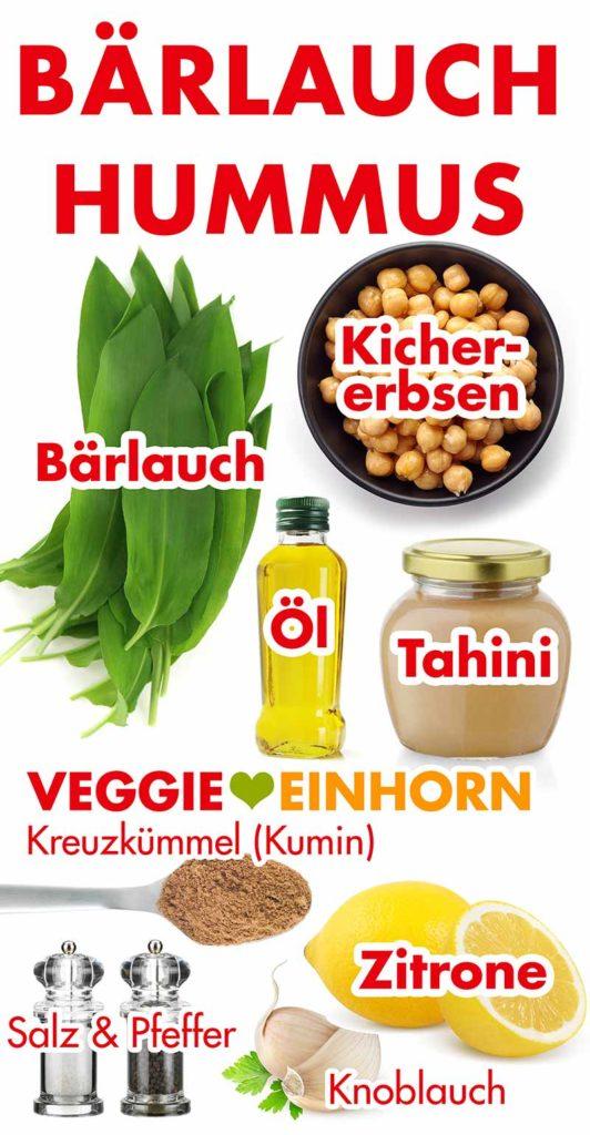 Zutaten für Bärlauch Hummus