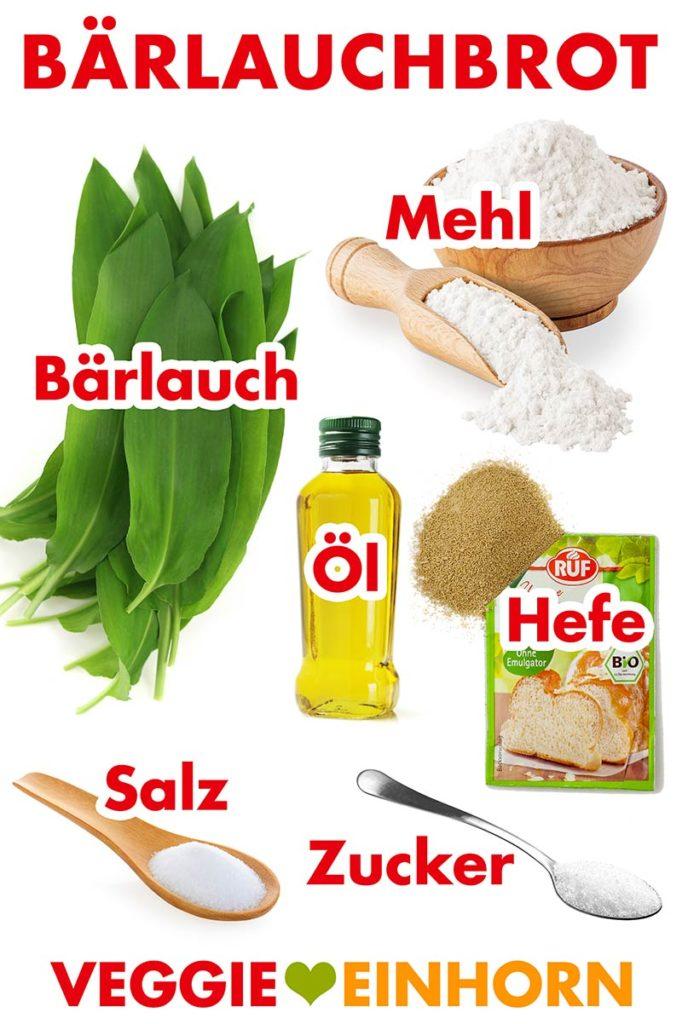 Zutaten für Bärlauchbrot