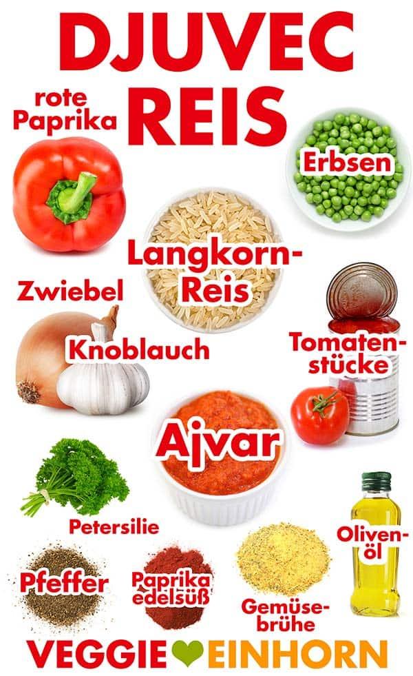 Zutaten für Djuvec Reis