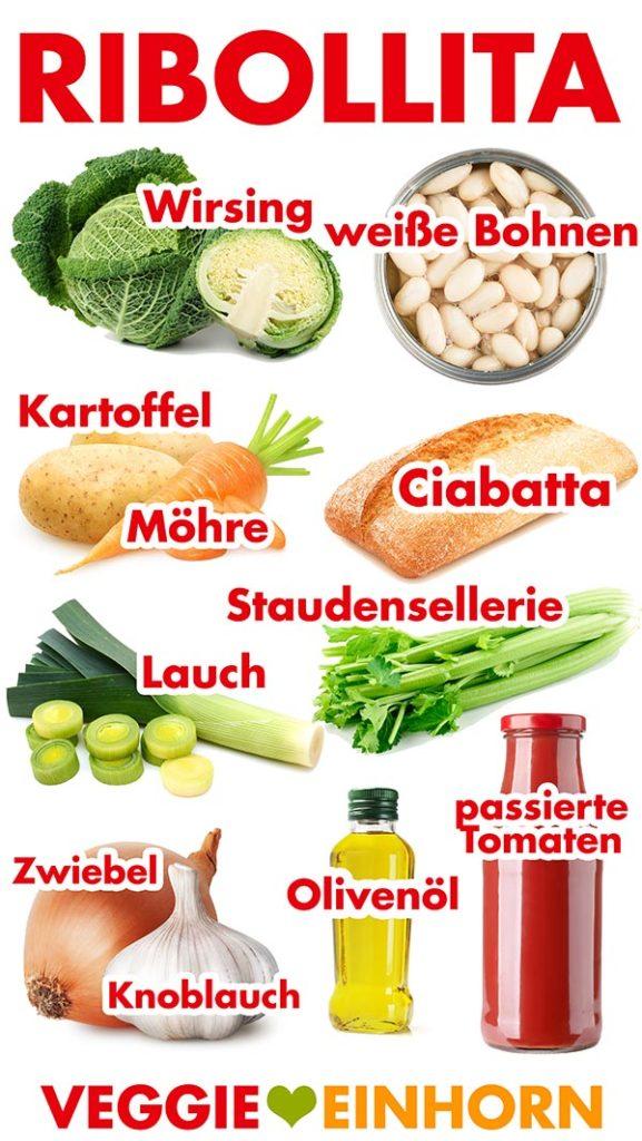 Zutaten für Ribollita