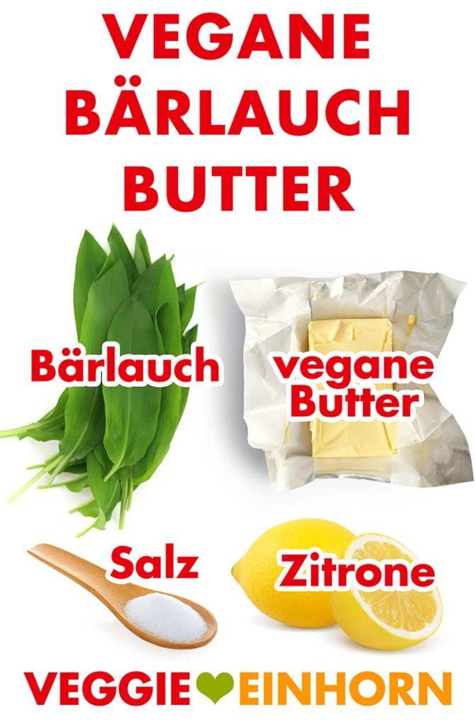 Zutaten für vegane Bärlauchbutter