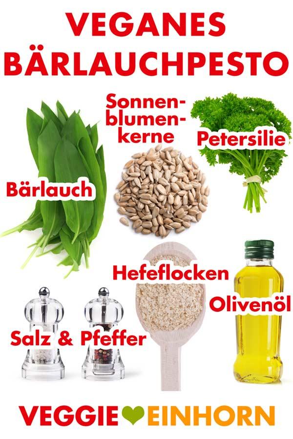 Zutaten für veganes Bärlauchpesto