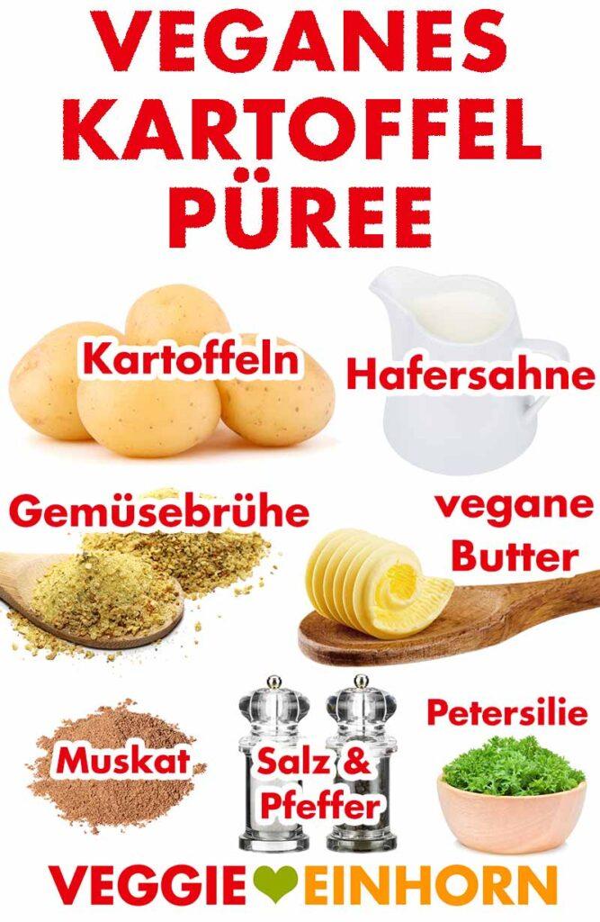 Zutaten für das vegane Kartoffelpüree
