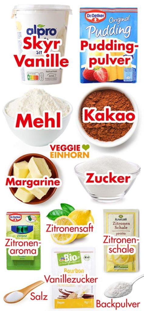 Zutaten für veganen russischen Zupfkuchen