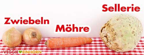 Zwiebeln, Möhre, Sellerie