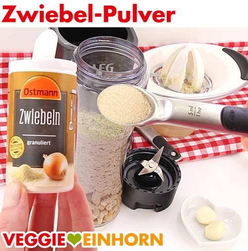 Zwiebelpulver für vegane Käsesoße