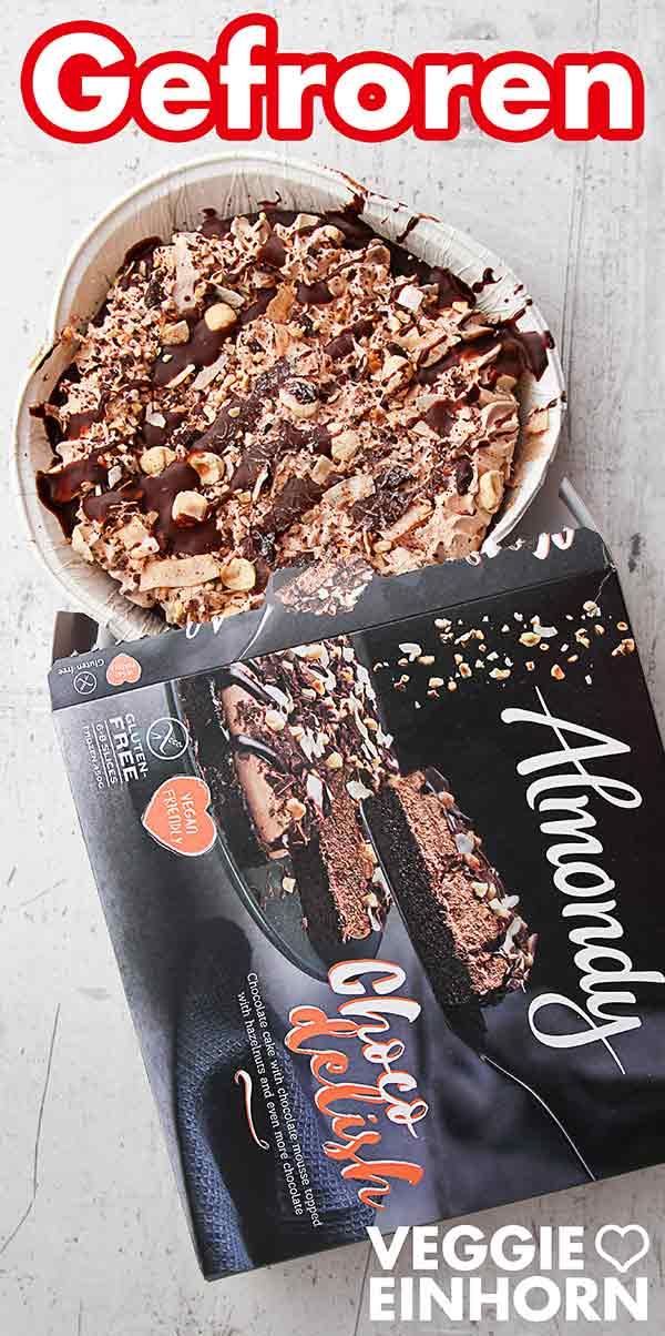 Die Choco Delish Torte von Almondy mit der Verpackung