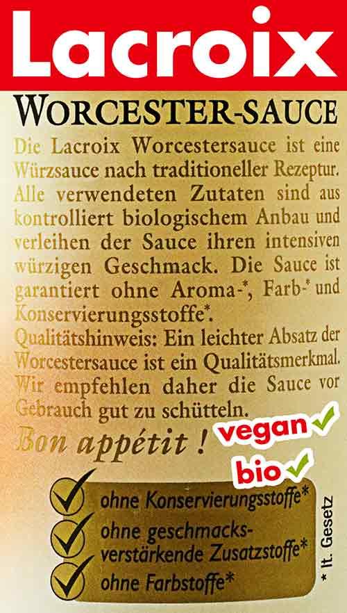 Lacroix vegane Bio Worcestersauce