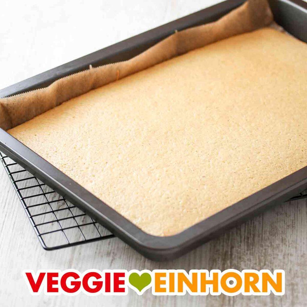 Veganer Biskuit für Tiramisu
