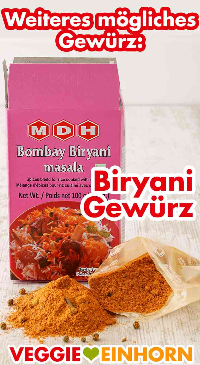 Eine Packung Bombay Biryani Masala Gewürz