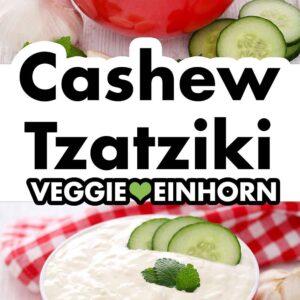 Zaziki vegan aus Cashews und Tofu