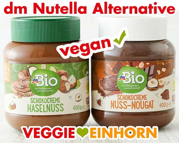 Zwei Gläser Nutella Alternative von dm Bio