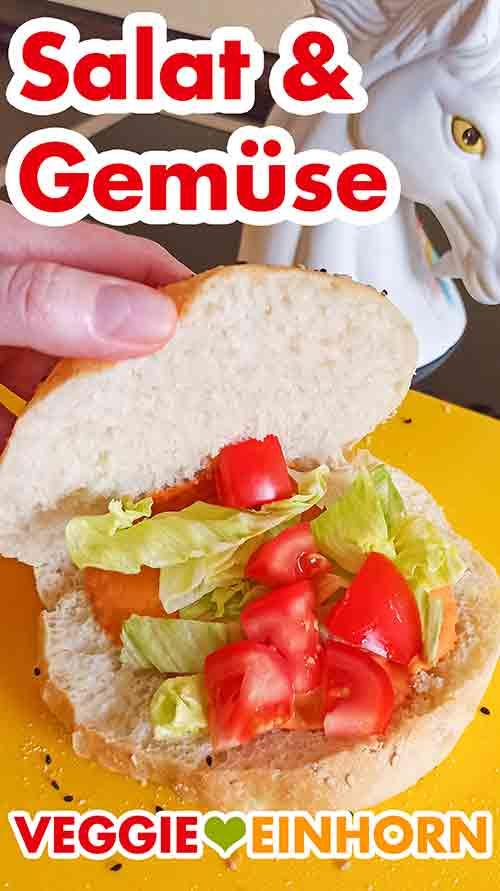 Dönerbrot mit Salat und Tomaten