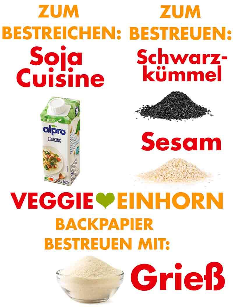 Soja Cuisine, Schwarzkümmel Samen, Sesam, Grieß