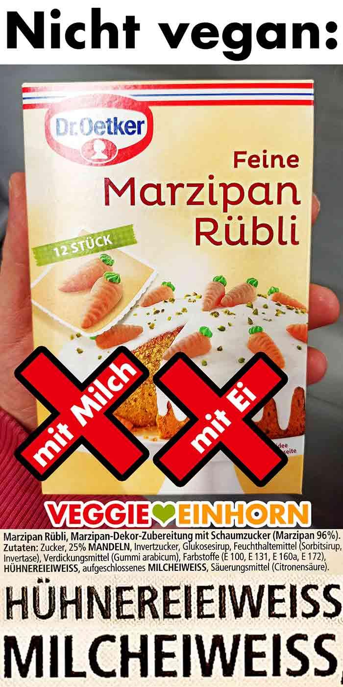 Feine Marzipan Rübli von Dr. Oetker