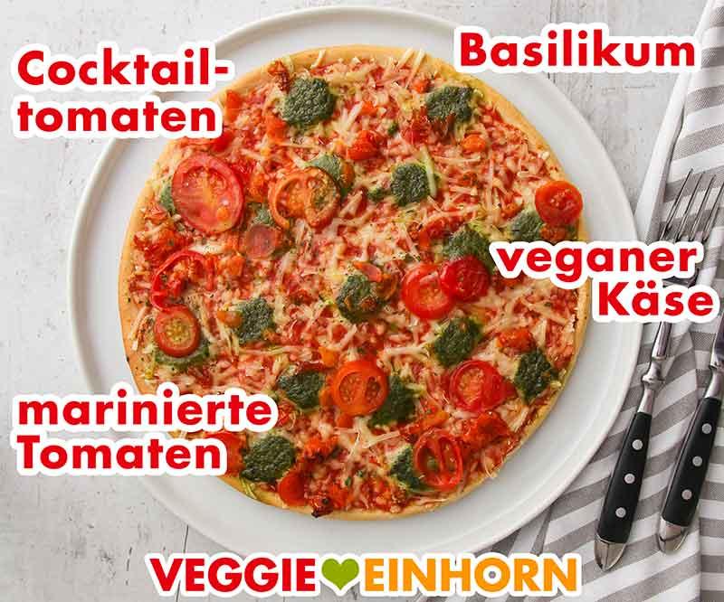 Gebackene vegane Pizza von Dr. Oetker