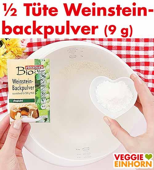 9 g Weinsteinbackpulver