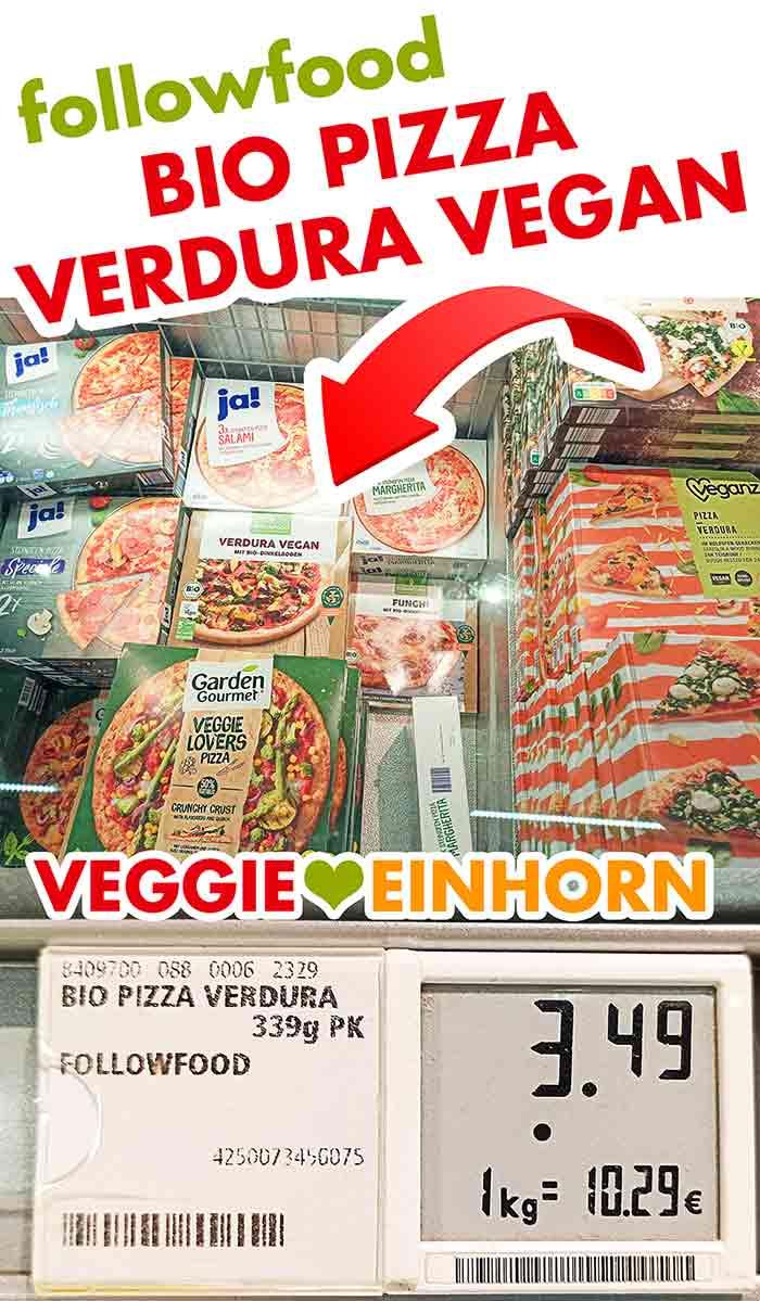 Die vegane Bio TK-Pizza von followfood in der Tiefkühltruhe bei Rewe