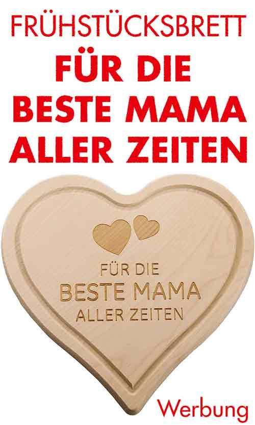 Muttertagsgeschenk Holzbrett mit Gravur