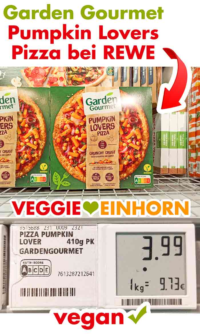 Garden Gourmet Pumpkin Lovers Pizza in der Tiefkühltruhe bei Rewe