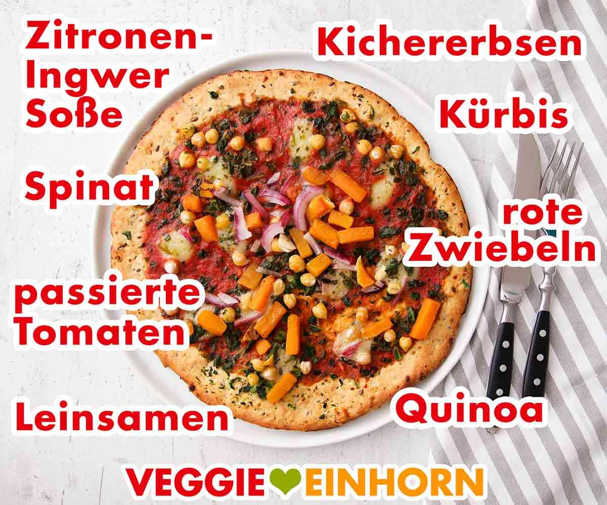 Gemüse auf der Pumpkin Lovers Pizza von Garden Gourmet