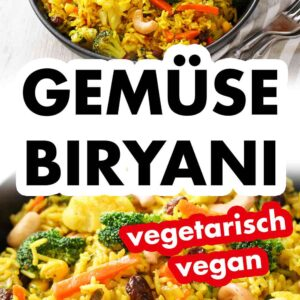 Indisches Biryani mit Reis und Gemüse
