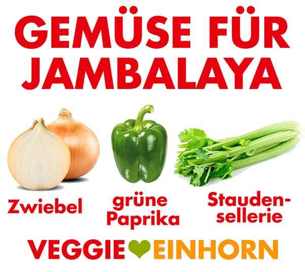 Gemüse für Jambalaya