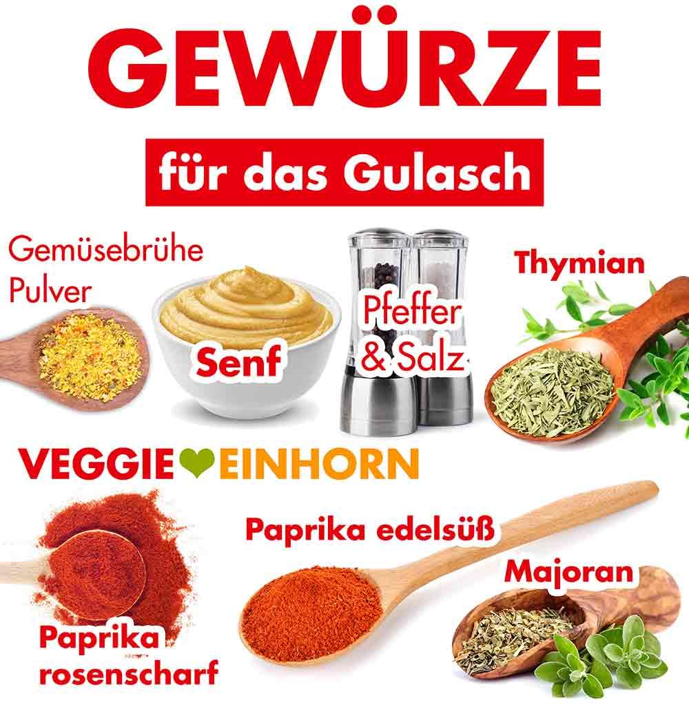 Gewürze für veganes Gulasch