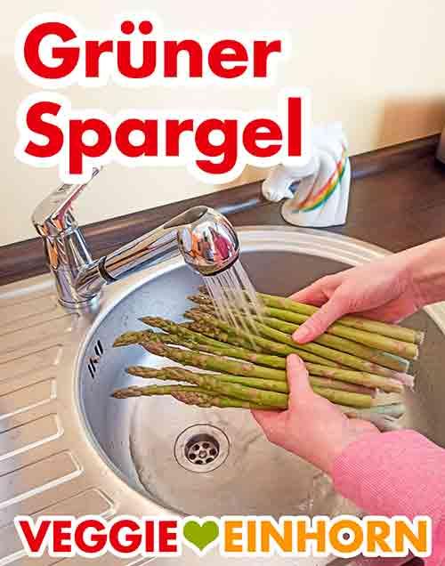 Grünen Spargel waschen.