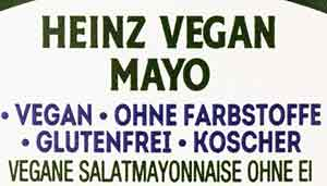 Heinz Vegan Mayo Vegane Salatmayonnaise ohne Ei