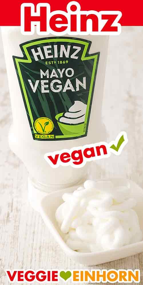 Vegane Mayo von Heinz in einem Schälchen