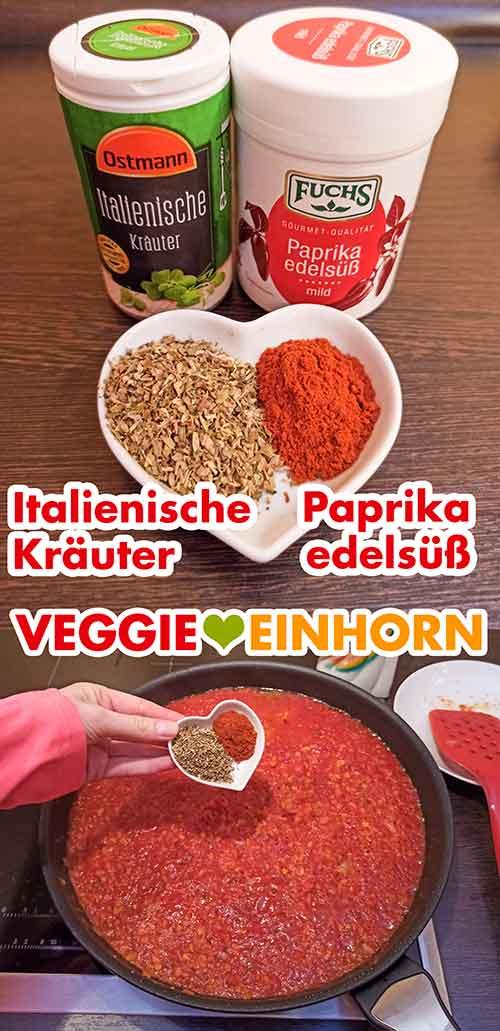 Italienische Kräuter und Paprika edelsüß Pulver