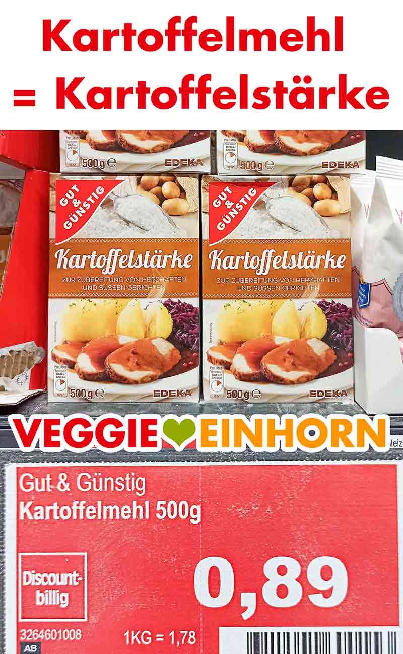 Packungen mit Kartoffelmehl bei Edeka