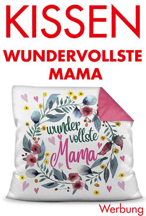 Muttertagsgeschenk Kissen Wundervollste Mama