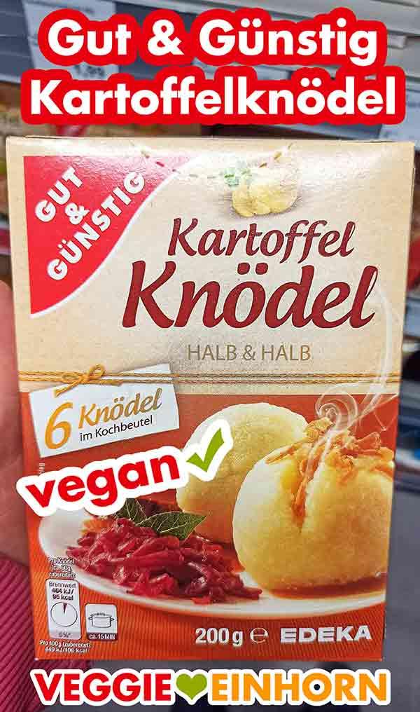 Eine Packung Kartoffel Knödel halb und halb von Gut und Günstig