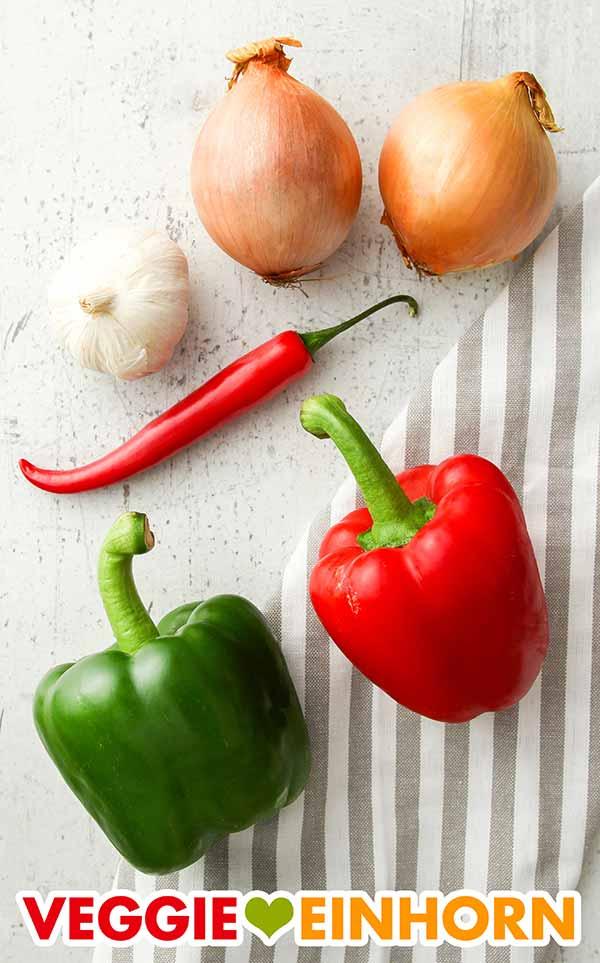 Gemüse für Linsen Chili