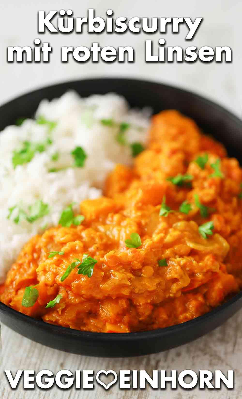 Curry mit Kürbis und roten Linsen