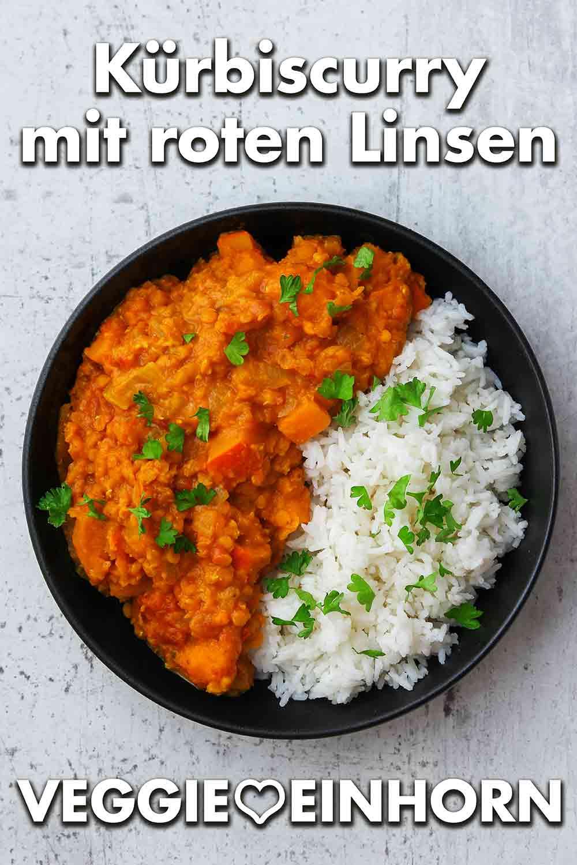 Curry mit roten Linsen und Kürbis
