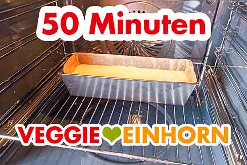 Veganer Marzipankuchen im Ofen