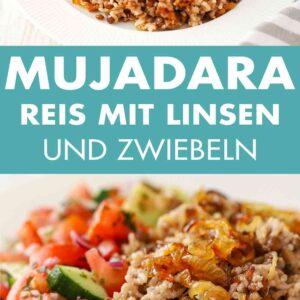 Mujadara mit Reis, Linsen und Zwiebeln